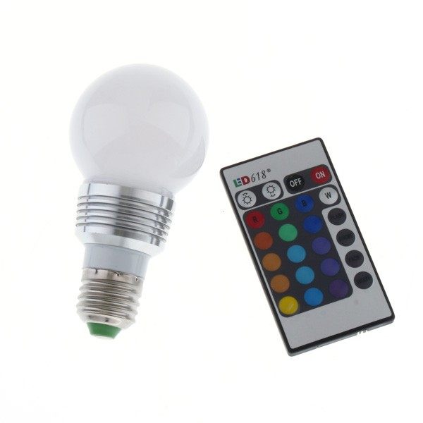 RGB 3W LED LIGHT W REMOTE